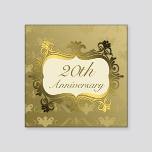 Fancy 20th Wedding Anniversary Sticker